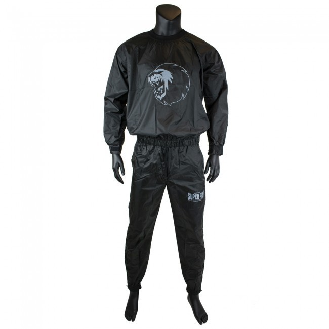 Super Pro Combat Gear Trainingsanzug / Sauna Suit Schwarz/Weiß