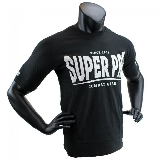 Super Pro T-Shirt S.P. Logo Schwarz/Weiß
