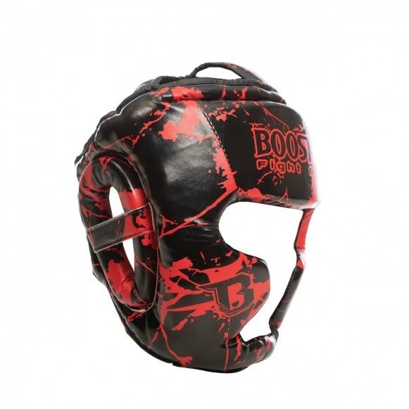 Booster Kopfschutz HGL B 2 Marmor/Rot Jugendliche