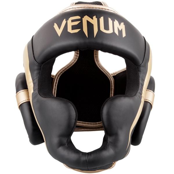 Venum Elite Kopfschutz-Schwarz/Gold