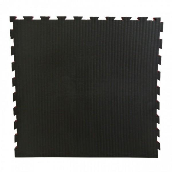 Puzzelmatte 100 x 100 x 4/2,5 cm Schwarz/Rot