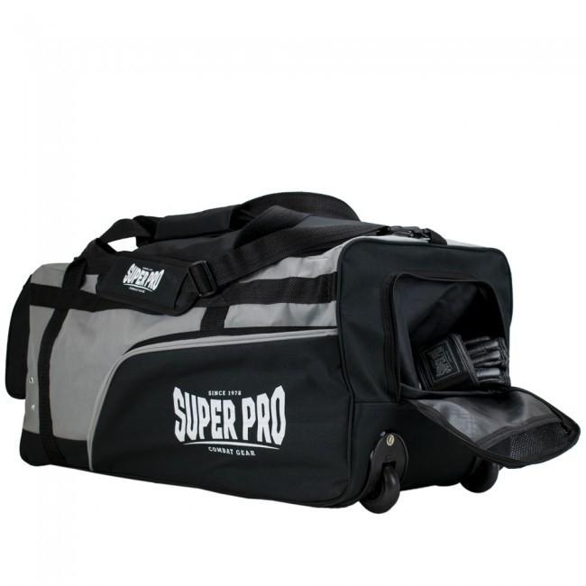 Super Pro Sporttasche Combat Gear Trolley Bag Schwarz/Grau/Weiß
