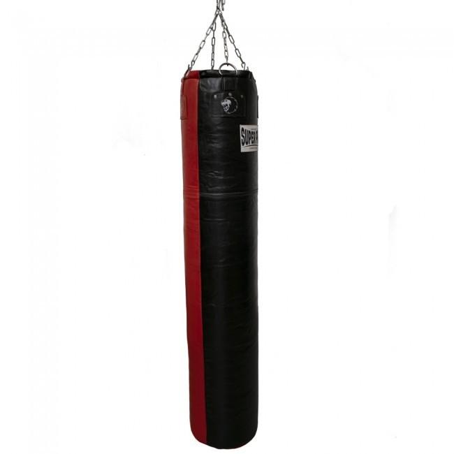 Super Pro Leder-Boxsack Split Schwarz/Rot