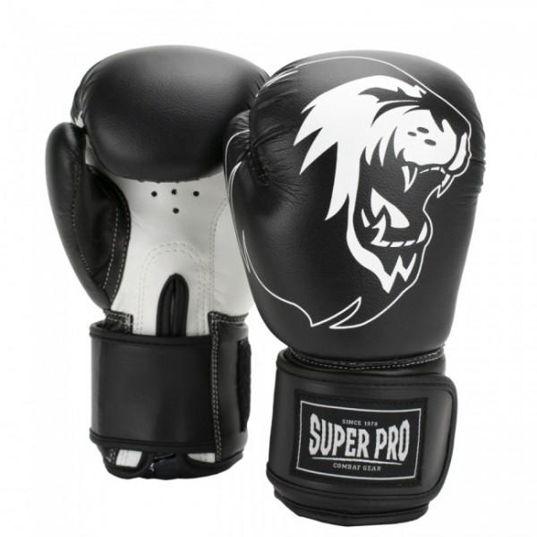 Super Pro Combat Gear Talent Kinder Boxhandschuhe Schwarz/Weiß