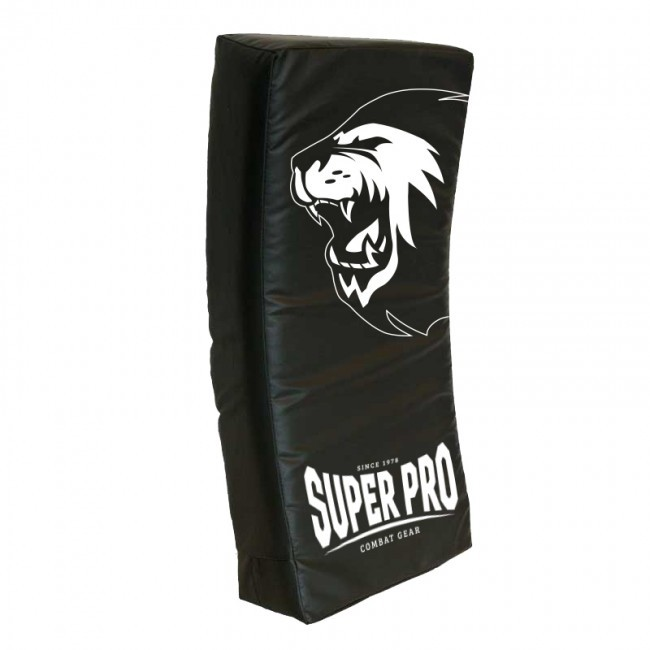Super Pro Combat Gear gebogenes Kicking Shield Schwarz 75x35x15 cm