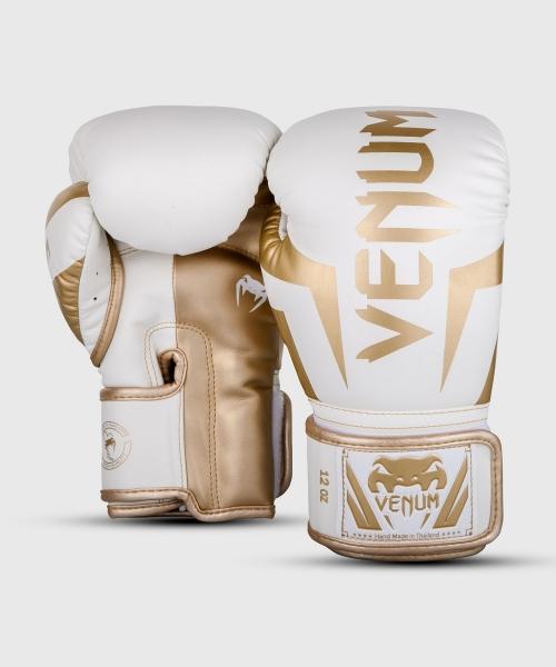 Venum Elite Boxhandschuhe - Weiß/Gold
