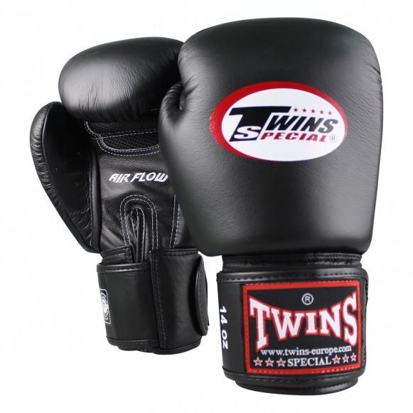Twins Boxhandschuhe BGVL 3 Air Leder Schwarz