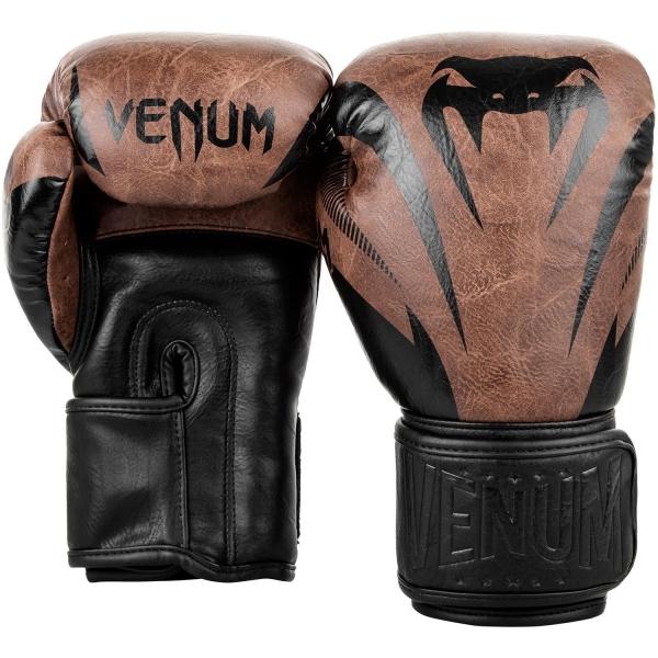 Venum Impact Boxhandschuhe - Schwarz/Braun