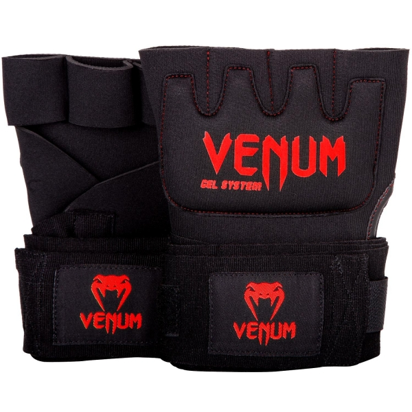 Venum Kontact Gel Handschuh Wraps Schwarz Rot