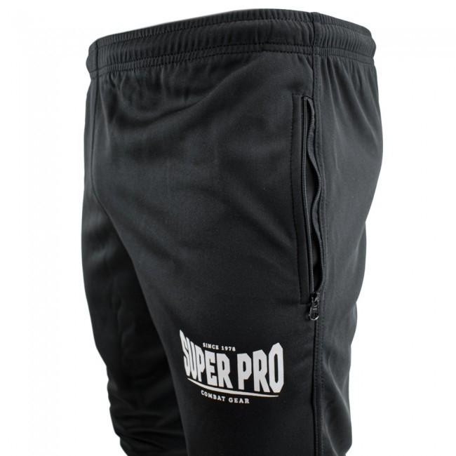 Super Pro Trainingshose Schwarz/Weiß
