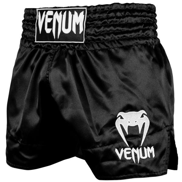 Shorts Muay Thai Venum Classic - Schwarz Weiß