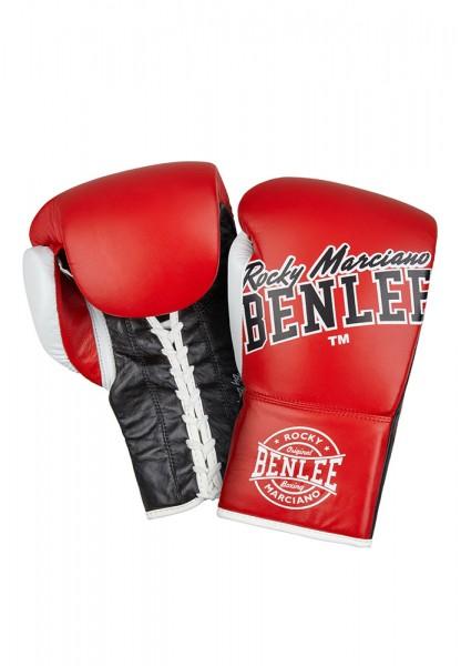 Benlee Big Bang Boxhandschuhe aus Leder Rot Schwarz