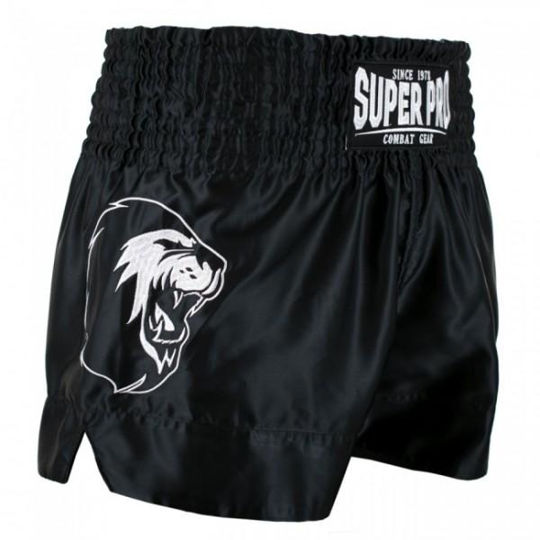 Super Pro Combat Gear Thai- und Kickboxing Short Hero Schwarz/Weiß