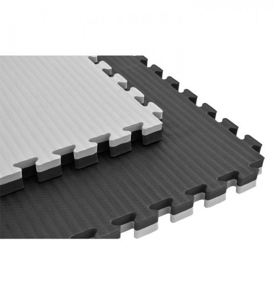 Puzzelmatte 100 x 100 x 2,5/4 cm Schwarz/Grau