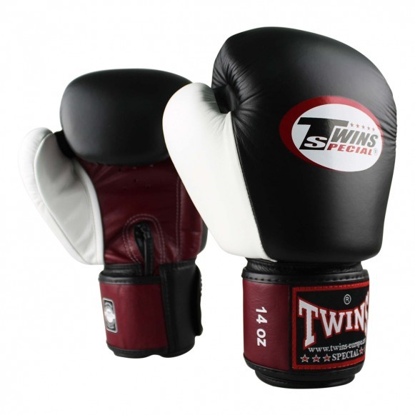 Twins BGVL 4 Boxhandschuhe Rot Schwarz Weiß