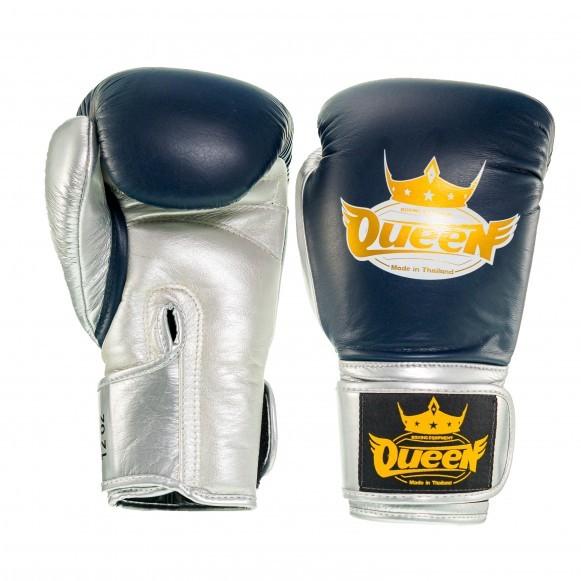 Queen Pro 1 Damen Boxhandschuhe Blau Silber