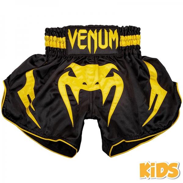 Venum Bangkok Inferno Muay Thai Shorts - Kinder - Schwarz/Gelb