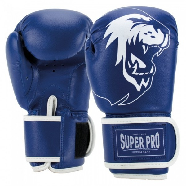Super Pro Combat Gear Talent (Kick-)Boxhandschuhe Blau/Weiß