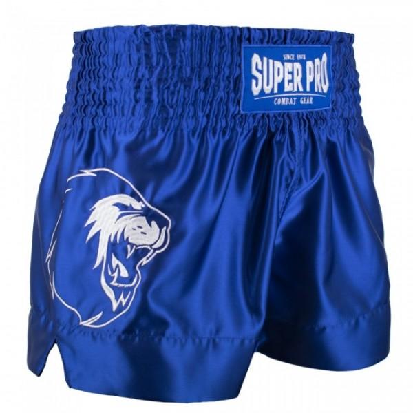 Super Pro Combat Gear Thai- und Kickboxing Short Hero Blau/Weiß