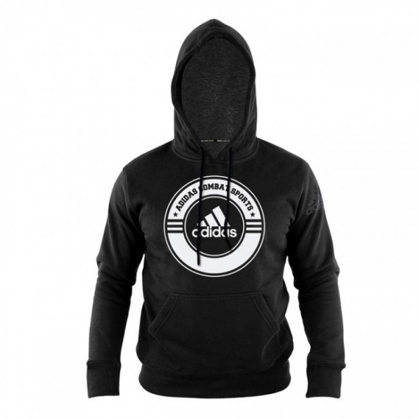 Hoodie Combat Sports Schwarz/Weiß