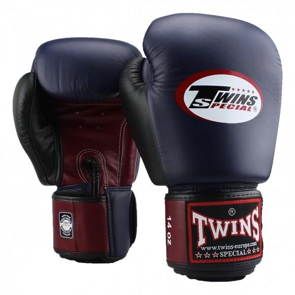 Twins BGVL 4 Boxhandschuhe Weinrot Blau