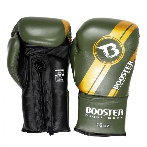Booster Boxhandschuhe BGL V3 Neu Schwarz Grün mit Schnürung