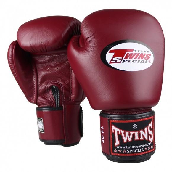 Twins Boxhandschuhe BGVL 3 Leder Weinrot