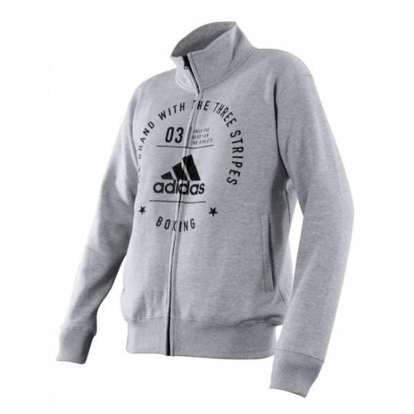 Adidas Community Jacket Boxing Grau/Schwarz