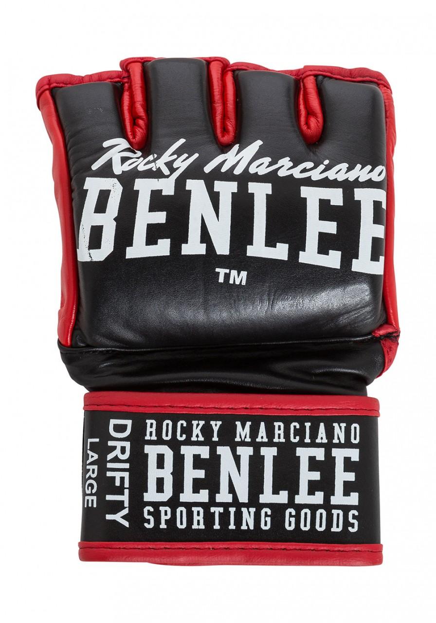 Benlee Drifty MMA-Handschuhe aus Leder Schwarz Rot