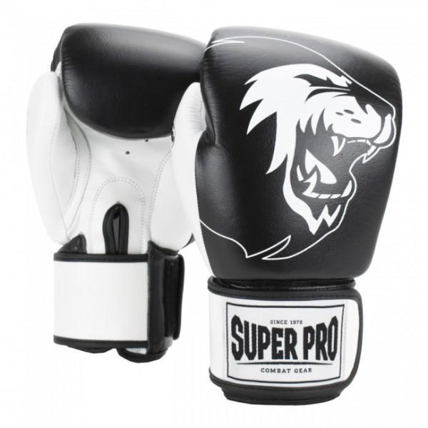 Super Pro Combat Gear Undisputed Boxsackhandschuhe Leder Schwarz/Weiß