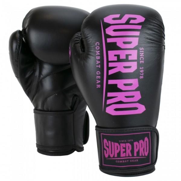 Super Pro Combat Gear Champ Boxhandschuhe Schwarz/Pink