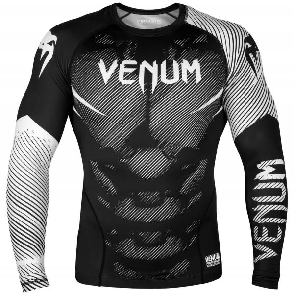 Venum NoGi 2.0 Rashguard - Langarm - Schwarz/Weiß