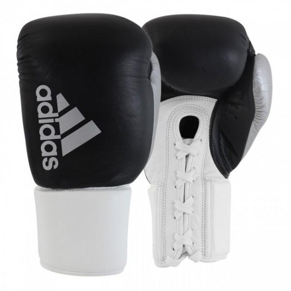 Adidas Boxhandschuhe Hybrid 400 Pro Laces - Schwarz/Weiß/Silber