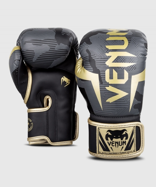 Venum Elite Boxhandschuhe - Camo dunkel/Gold