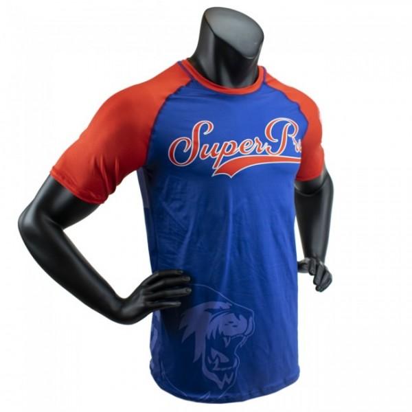 Super Pro Combat Gear T-Shirt Sublimation Challenger Blau/Rot/Weiß