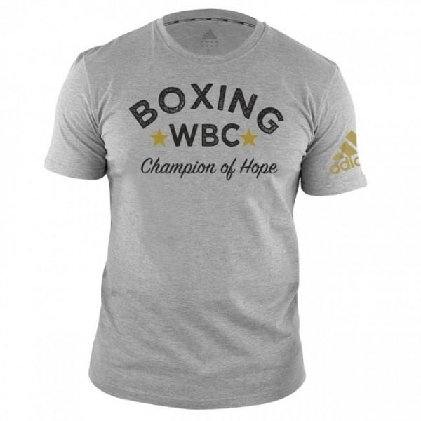 Adidas WBC T-Shirt Boxing-Grau