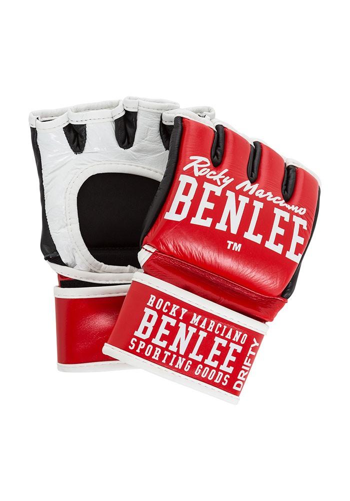 Benlee Drifty MMA-Handschuhe aus Leder Rot Weiß