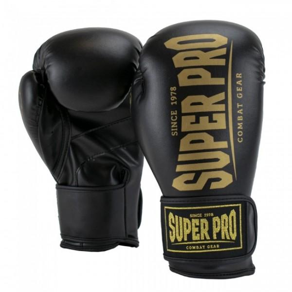 Super Pro Combat Gear Champ SE (Kick-)Boxhandschuhe Schwarz/Gold