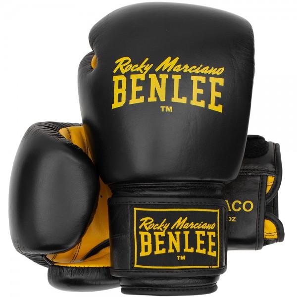 Benlee Draco Boxhandschuhe aus Leder Schwarz/Gelb