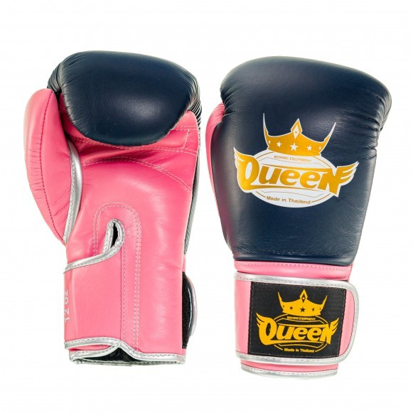 Queen Pro 4 Damen Boxhandschuhe Blau Pink