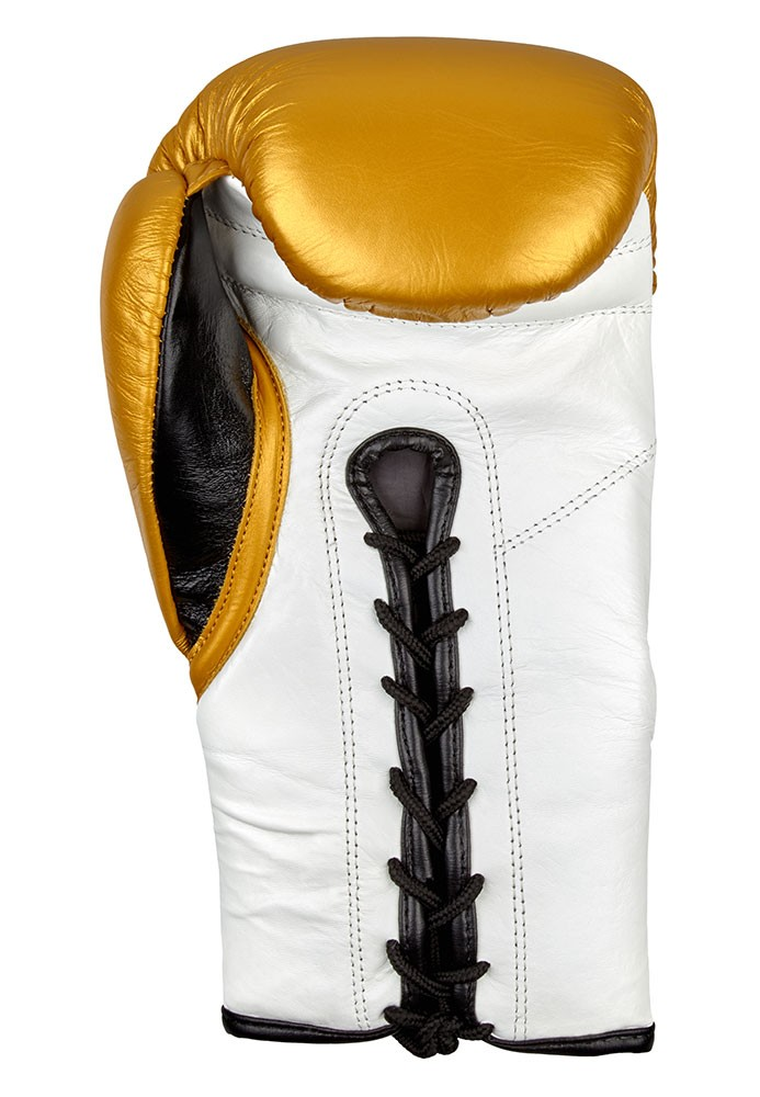 Benlee Newton Boxhandschuhe aus Leder Gold/Weiß