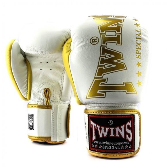 Twins Boxhandschuhe BGVL 8 Weiß/Gold