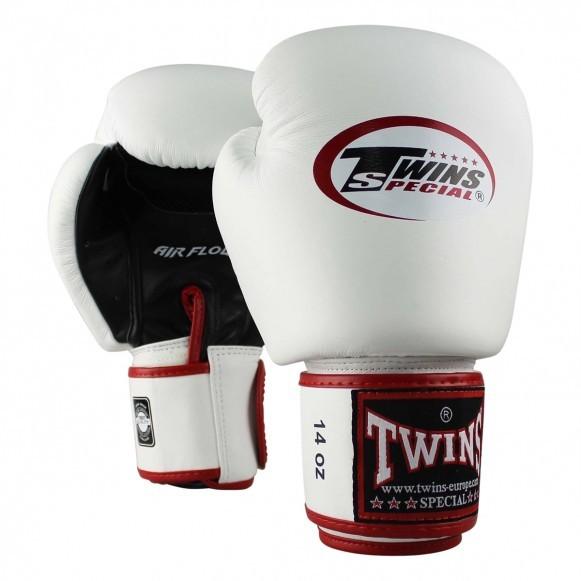 Twins Boxhandschuhe BGVL 3 Air Leder Weiß Schwarz