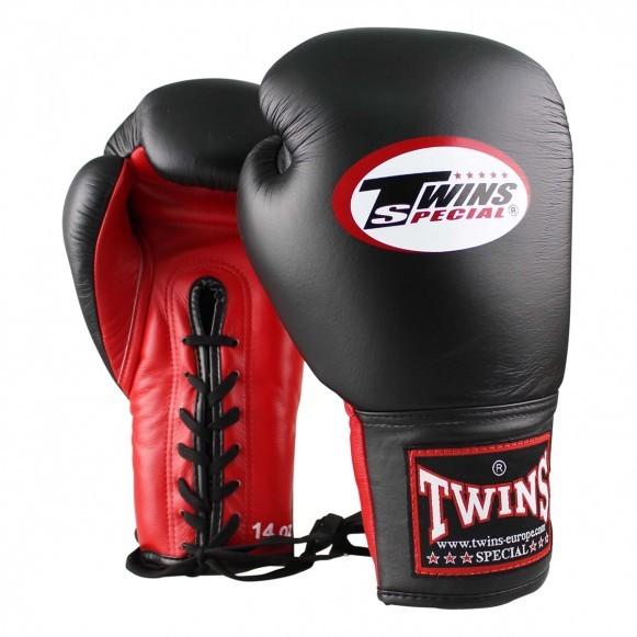 Twins Boxhandschuhe BGLL 1 Leder Rot Schwarz