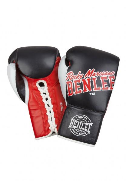 Benlee Big Bang Boxhandschuhe aus Leder Schwarz Rot