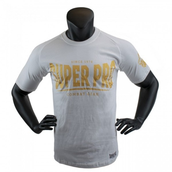 Super Pro T-Shirt S.P. Logo Weiß/Gold
