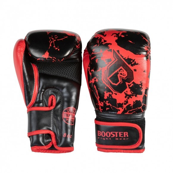 Booster Boxhandschuhe BG Jugendliche Marmor/Rot