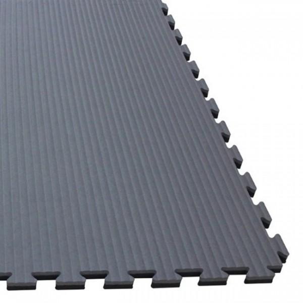 Puzzelmatte 100 x 100 x 4/2,5 cm Schwarz/Grau