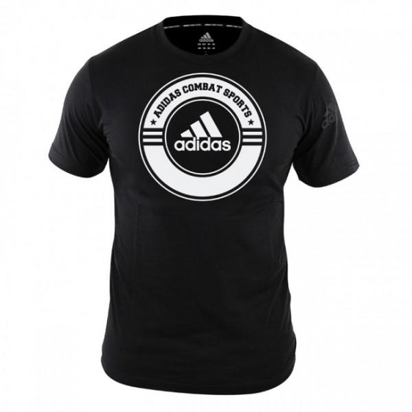T-Shirt Combat Sports Schwarz/Weiß